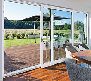 Pvc Sliding Windows with White Lift & Slide System for a Design Home in the Country Wide Windows