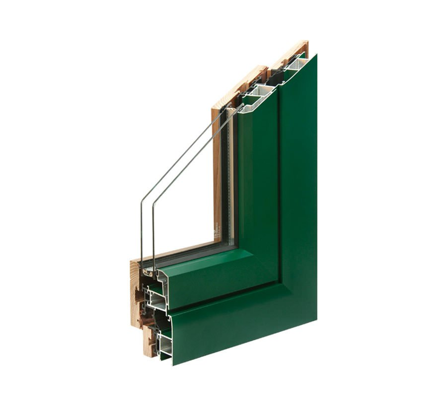 profilo esterno in alluminio degli infissi alluminio legno di aluser