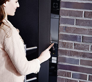 Automated Windows with Electronic Access Control and Security Systems Integrated in the Door and Window Frame