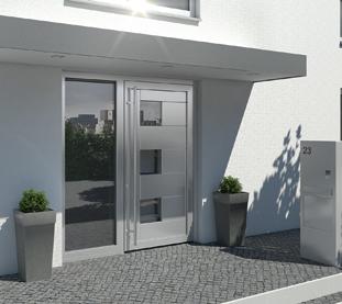 Portoni Condominiali in Alluminio con Pannello Misto Alluminio e Vetro Maniglione tutta Altezza e Specchiatura Fissa