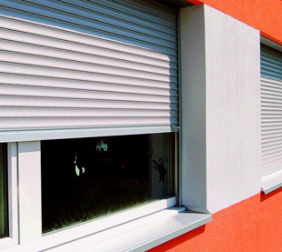 Electric roller shutters in Aluminium white recessed guides for Renovated Condominium