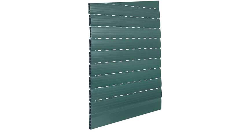 Hail-proof PVC roller shutters Green colour