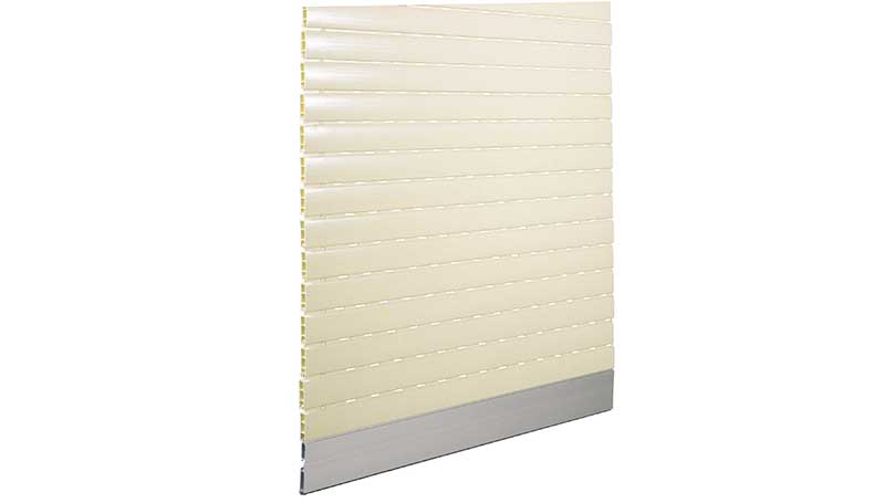 Hail-proof Pvc Rolling shutters light colour and dark terminal