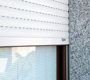 Pvc Rolling shutters White Accessories Grey and recessed guides with brush Anti noise
