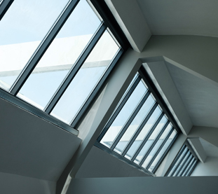 Grey Aluminium Skylights for the renovation of an industrial building