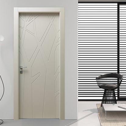 Porte per interni Bianche con Disegni Naturali per Residenze dal Design Moderno e Ricercato