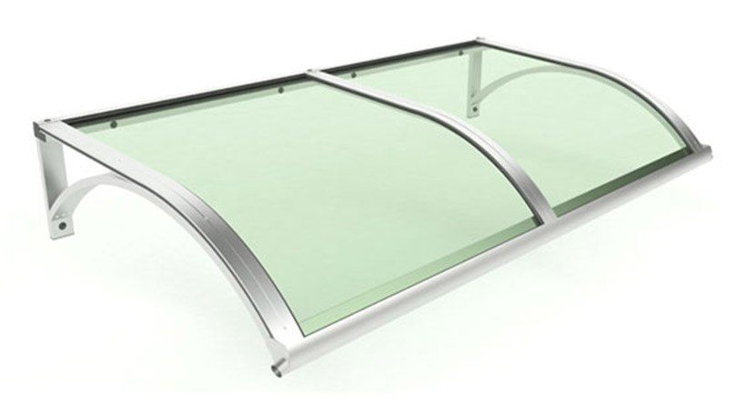 aluminium roofing Classic Model with alternate brackets and coloured plastic panel