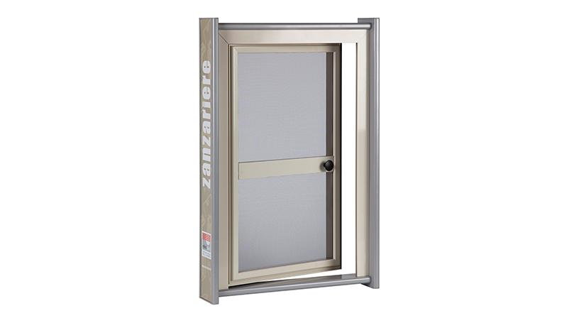 Zanzariere con Struttura in Alluminio per Porte con Fascia di Rinforzo e Pomolo per Apertura