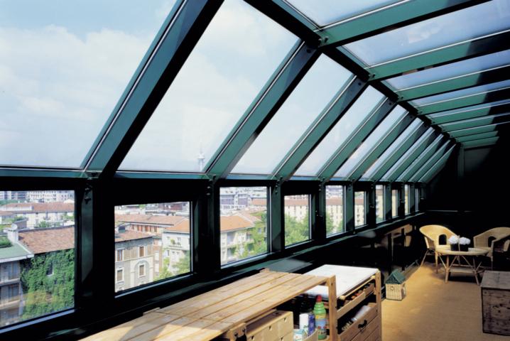schuco veranda made by aluser company specialized in aluminium verandas in milan