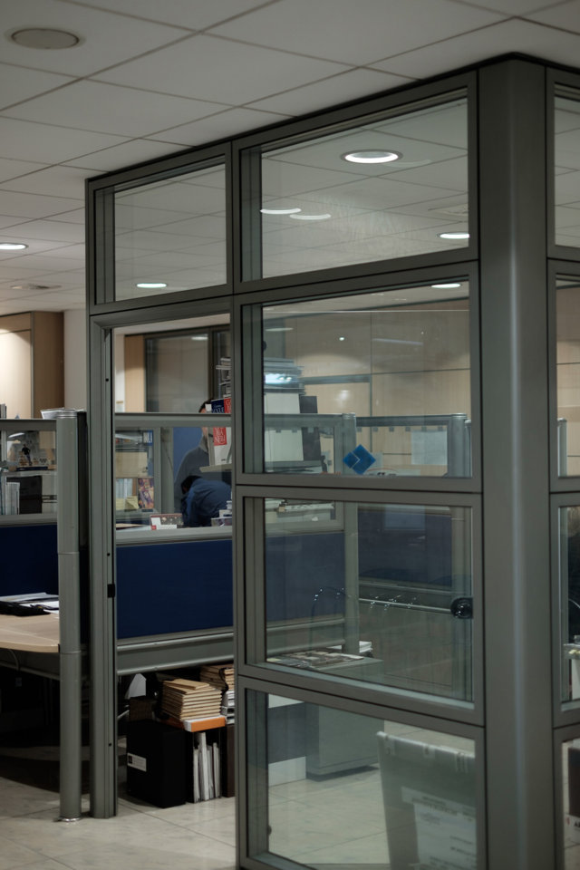 mobile office partitions produced and installed by aluser
