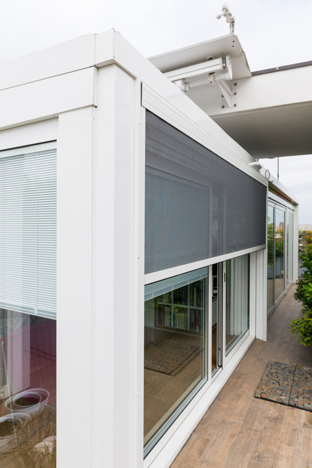 schuco veranda with thermal break designed and installed by Aluser schuco milan dealer