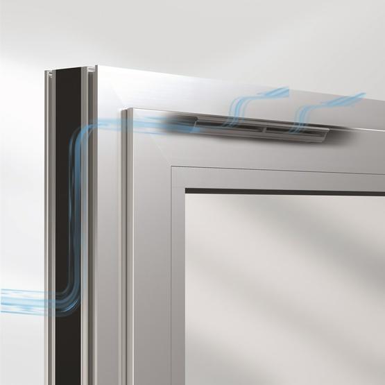 sistema ventoair di schuco per serramenti in alluminio per consentire ventilazione interna