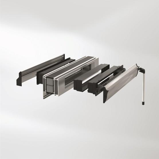 sistema ventoframe di schuco per infissi in alluminio per facilitare ventilazione interna