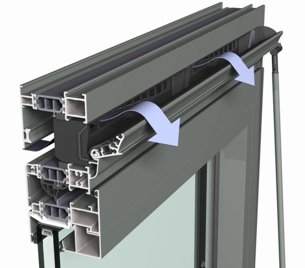 sistema di ventilazione per finestre in alluminio di reynaers