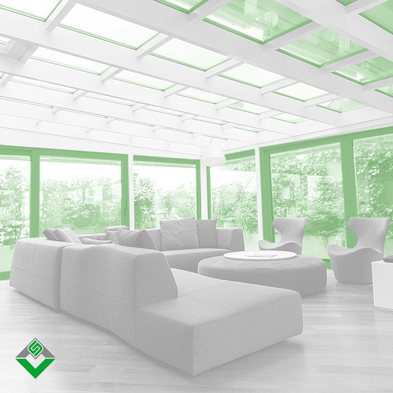 verande in alluminio prodotte e installate da aluser per una casa dal design moderno a milano