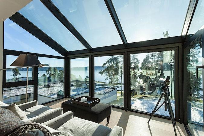 verande di design schuco con vetri autopulenti prodotta da aluser