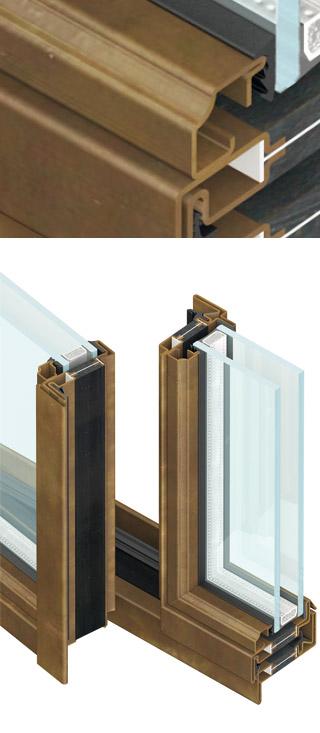 secco serramenti particolare fermavetro forma quadrato stondato OS2 75 di Aluser