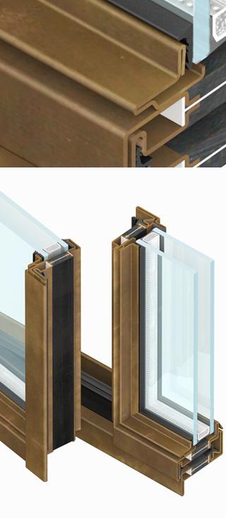 infissi secco particolare fermavetro forma thin OS2 75 di Aluser