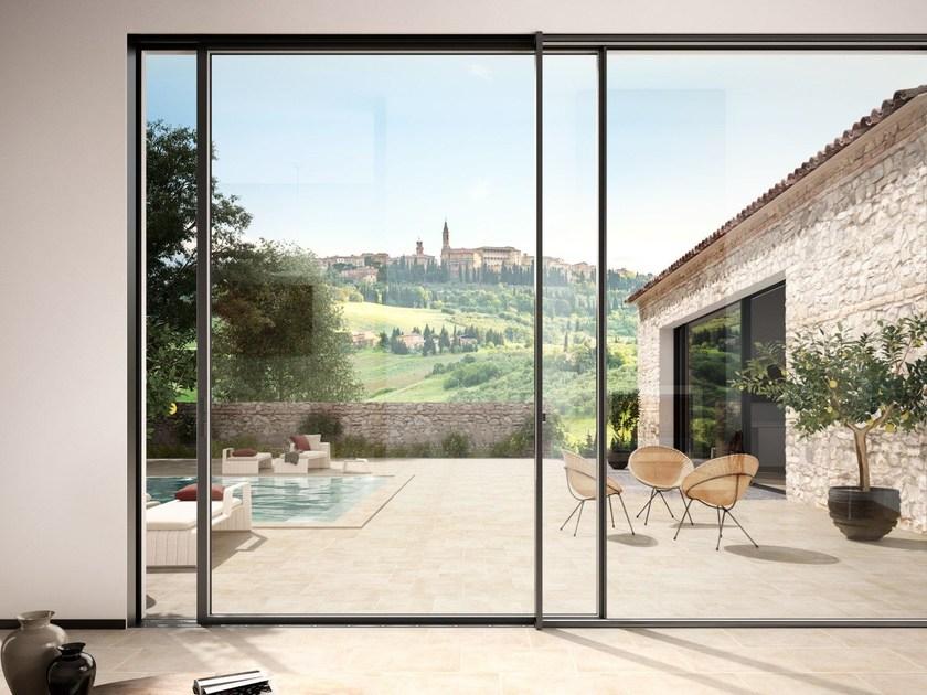 finestre in alluminio scorrevoli con spessore profilo minimo
