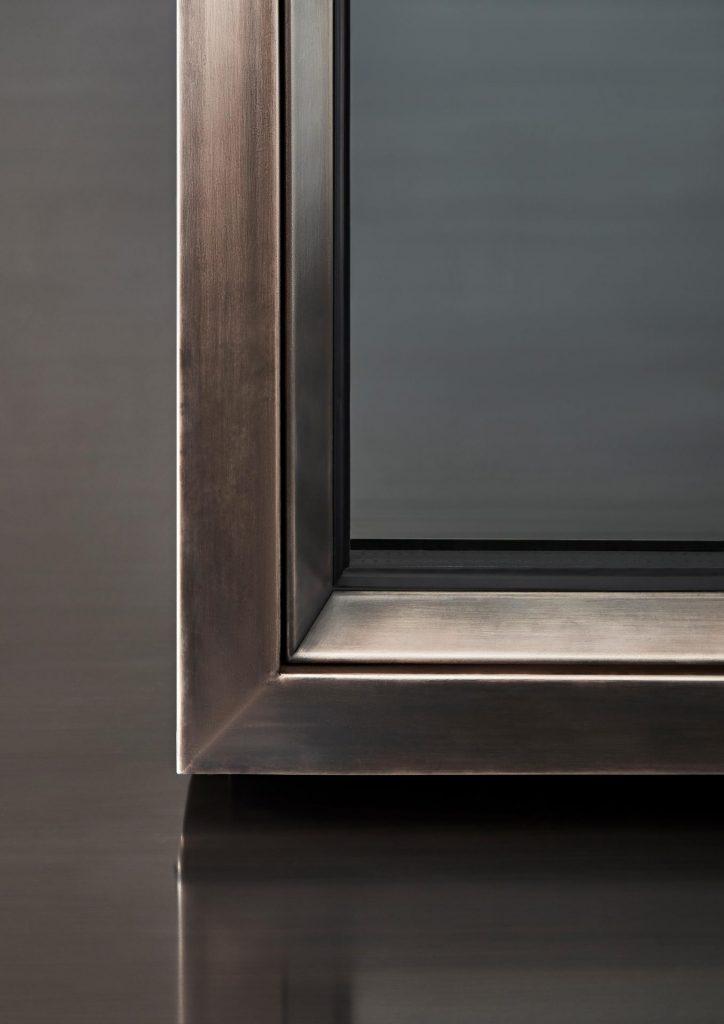 profilo OS75 di secco serramenti in acciaio con un ridotto spessore