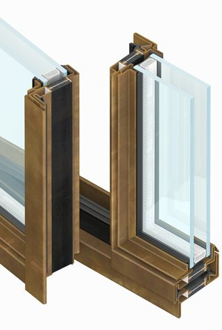 profile section steel windows and doors dry system marketed by aluser