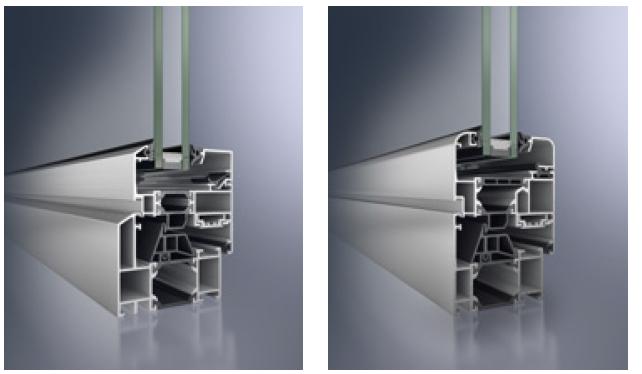 profili di serramenti in alluminio schuco