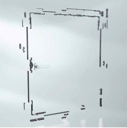 ferramenta e meccanismi utilizzati nella produzione di serramenti in pvc