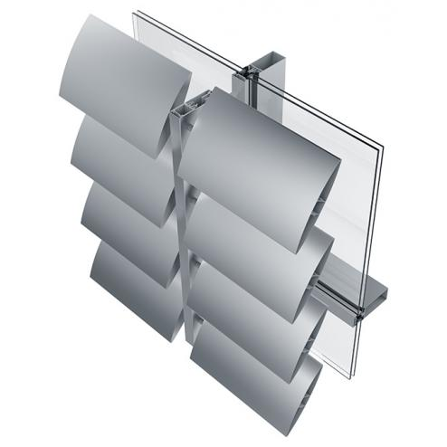 aluminium shading sunshades that can be integrated with photovoltaic panels