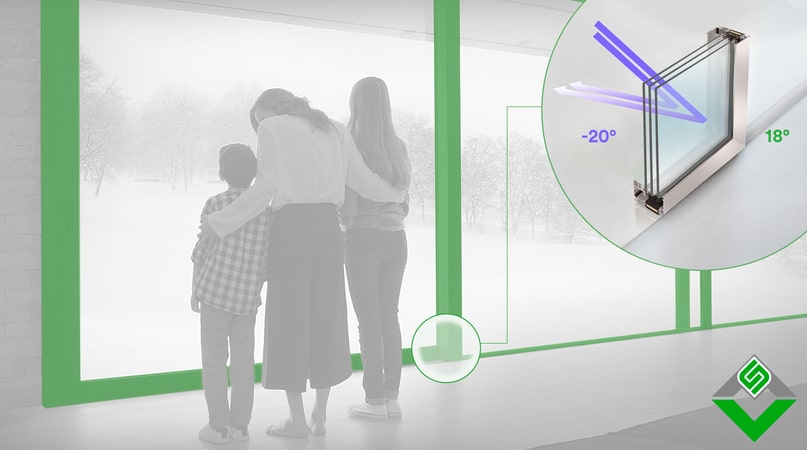 isolamento termico dei serramenti in alluminio di qualità aluser