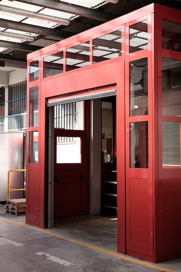 aluminium overhead doors for warehouse entrance with automatic opening produced and installed by aluser