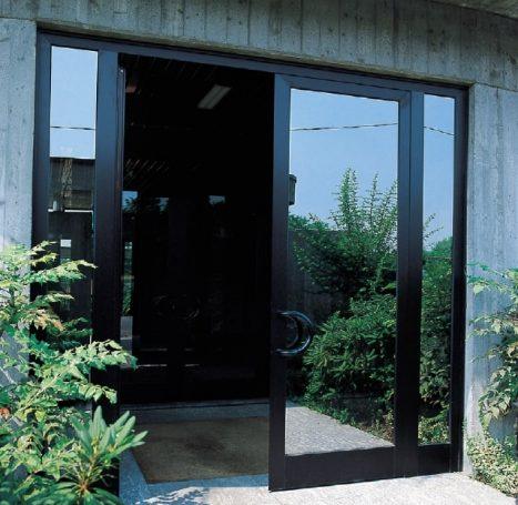 quality aluminium condominium doors with reflective mirrored glass