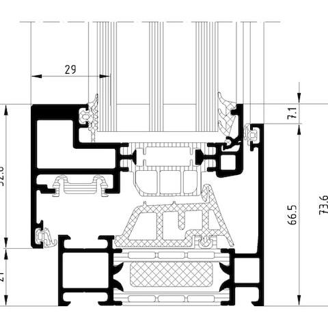schuco aluminium profile measures aws 75 bs hi