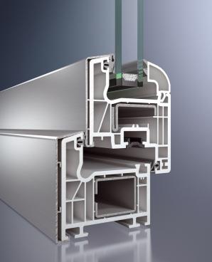 profilo in pvc ricoperto di alluminio all'esterno modello isol 70 q mix di finestre spi