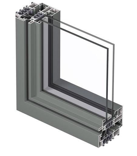 profilo alucompact in alluminio di serramenti spi