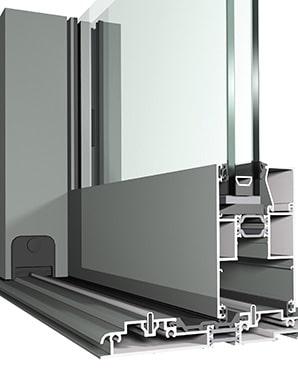 dettaglio profilo visio 130 scorrevole di spi finestre