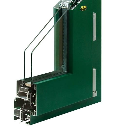 profilo fi spi finestre in alluminio modello trial val q