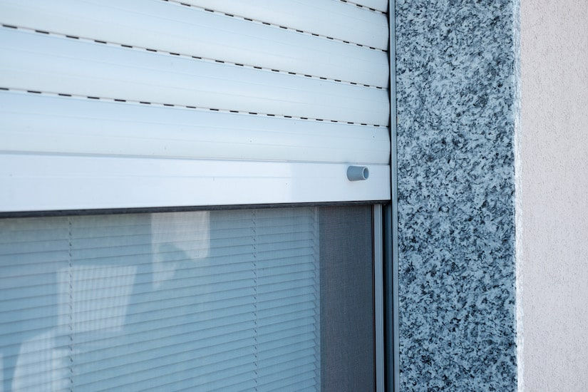 pvc rolling shutters with stop travel produced and installed by aluser milano