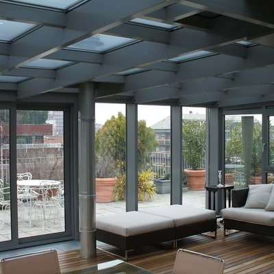 verande di design in alluminio e vetro installate da aluser
