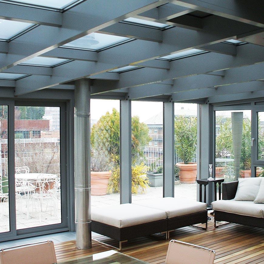 Serramenti Minimal per una Veranda con Aluser Design