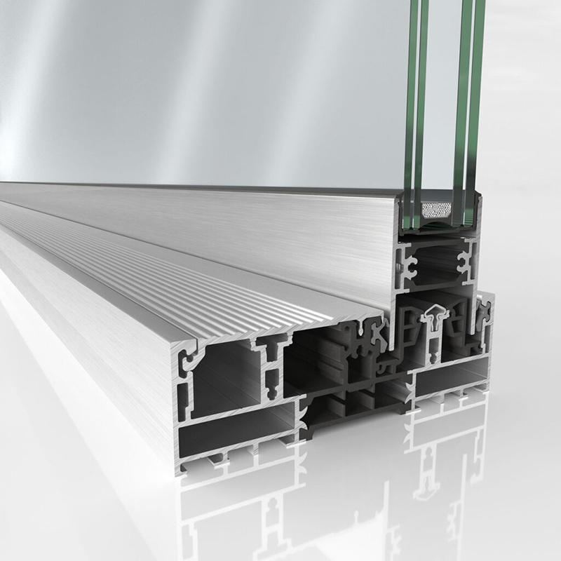 Schuco presenta il nuovo sistema ASE 51 PD. Soglia a filo pavimento (0-level)