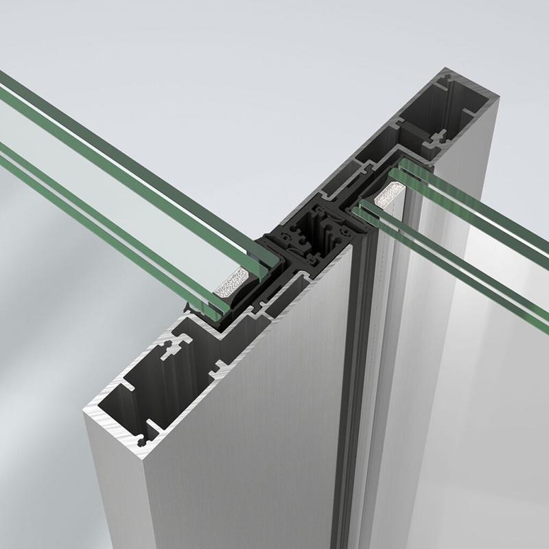 Schuco presenta il nuovo sistema ASE 51 PD. Montante centrale di soli 32 mm