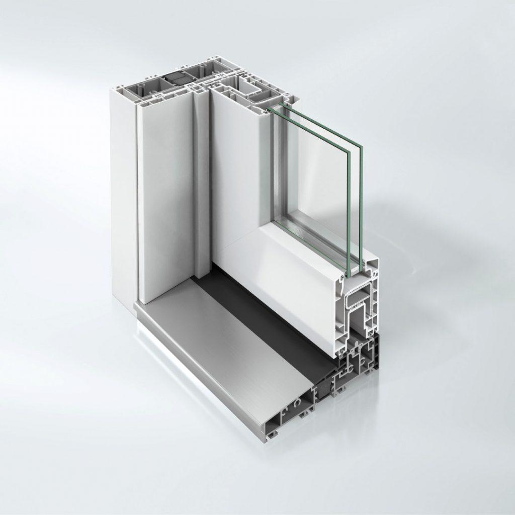 Sistema scorrevole EasySlide per serramenti pvc schuco